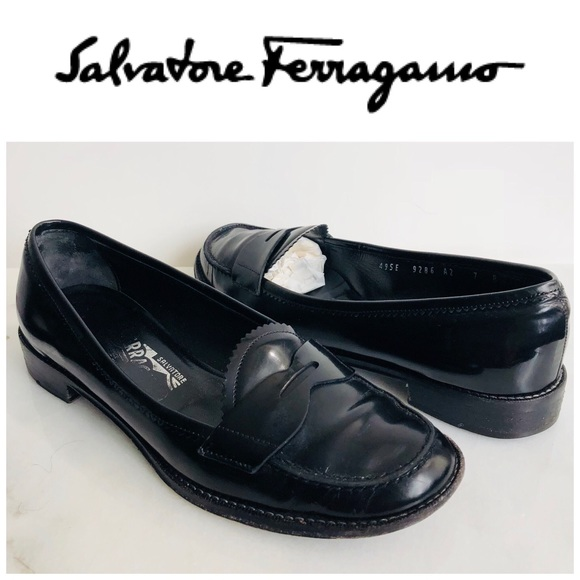 Salvatore Ferragamo Shoes - Salvatore Ferragamo Timoty Penny Loafers Size 7 B